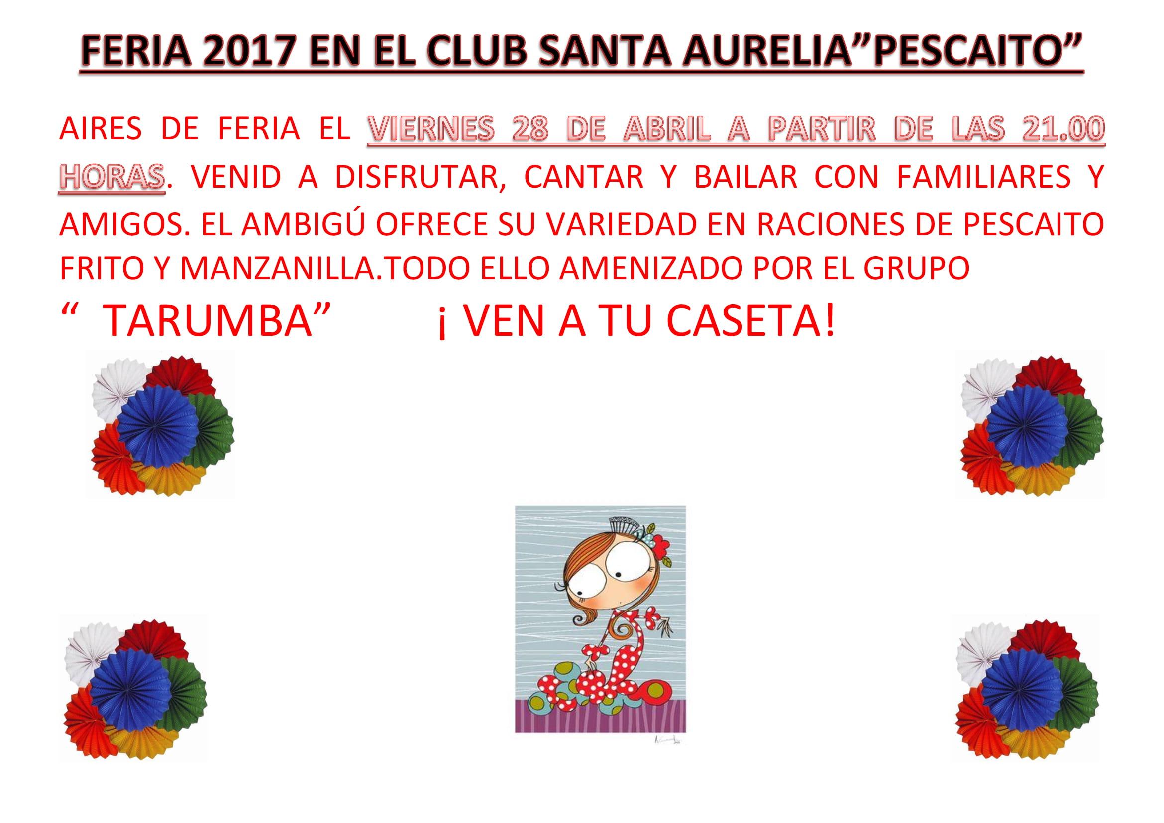 CARTEL FERIA 2017 EN EL CLUB SANTA AURELIA