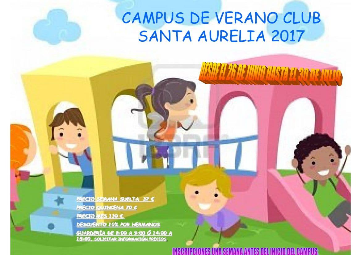 CARTEL CAMPUS SANTA AURELIA 2017