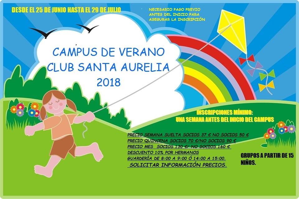 CARTEL CAMPUS VERANO CLUB SANTA AURELIA 2018 1