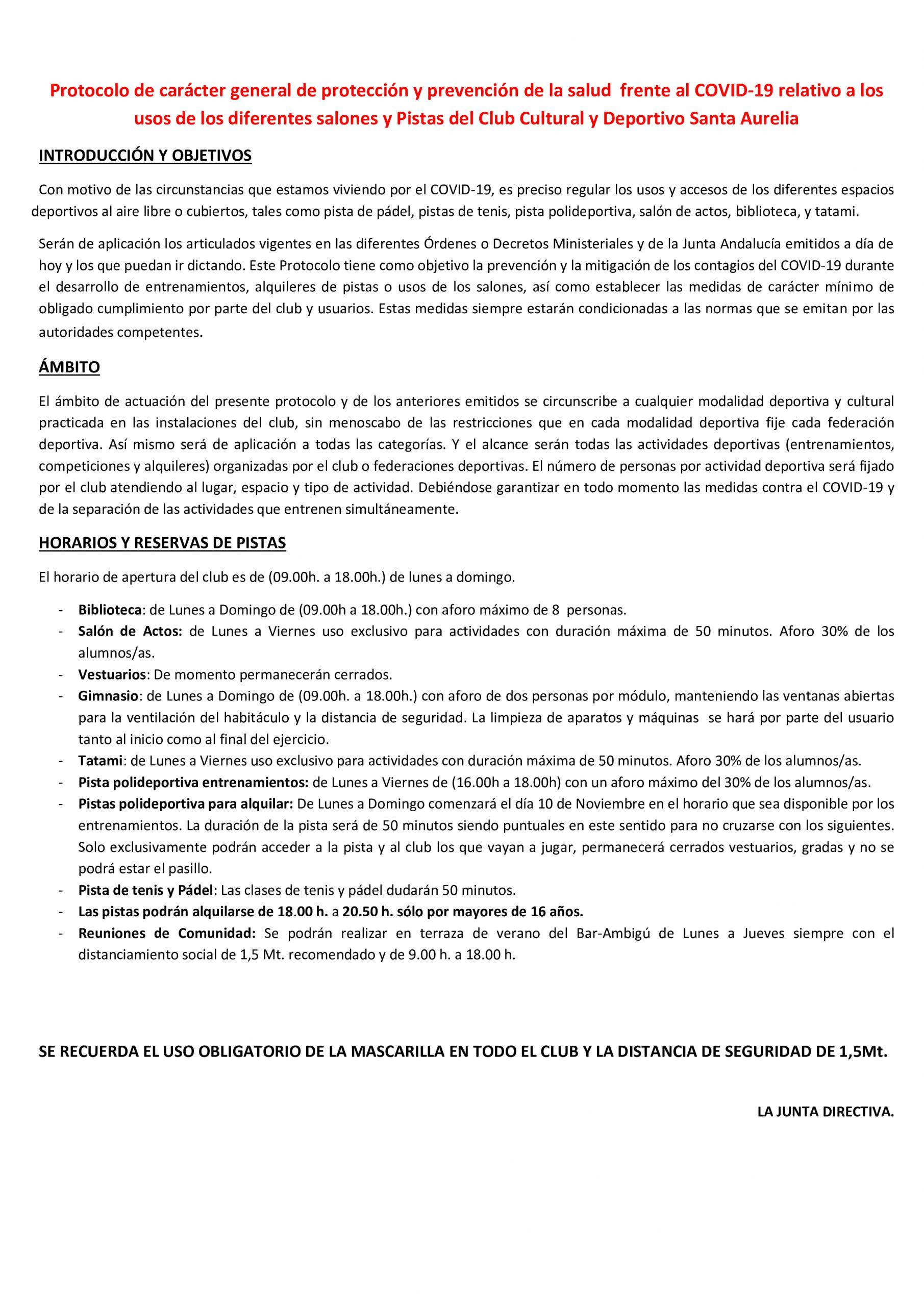 Protocolo salones 10 11 2020